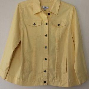 CJ Banks cute yellow denim jacket